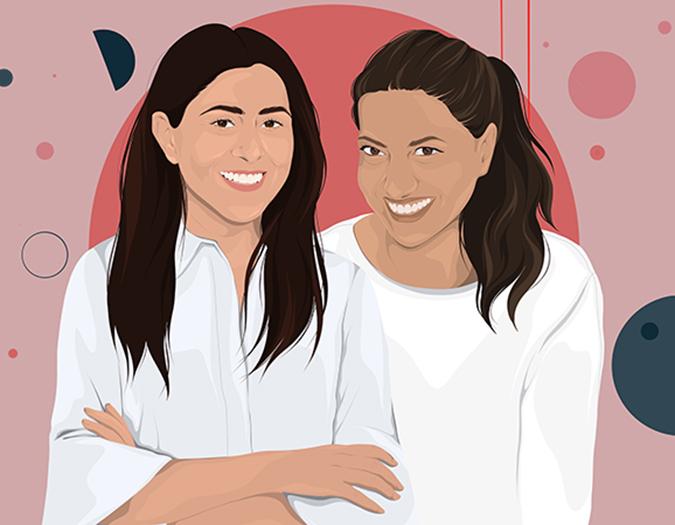 Illustration von Sarah und Mary